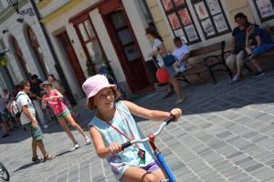 Győrkőc fesztivál fordított velocipéd