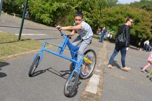 Autómentes nap Budapest 17. kerület - trükkös tricikli